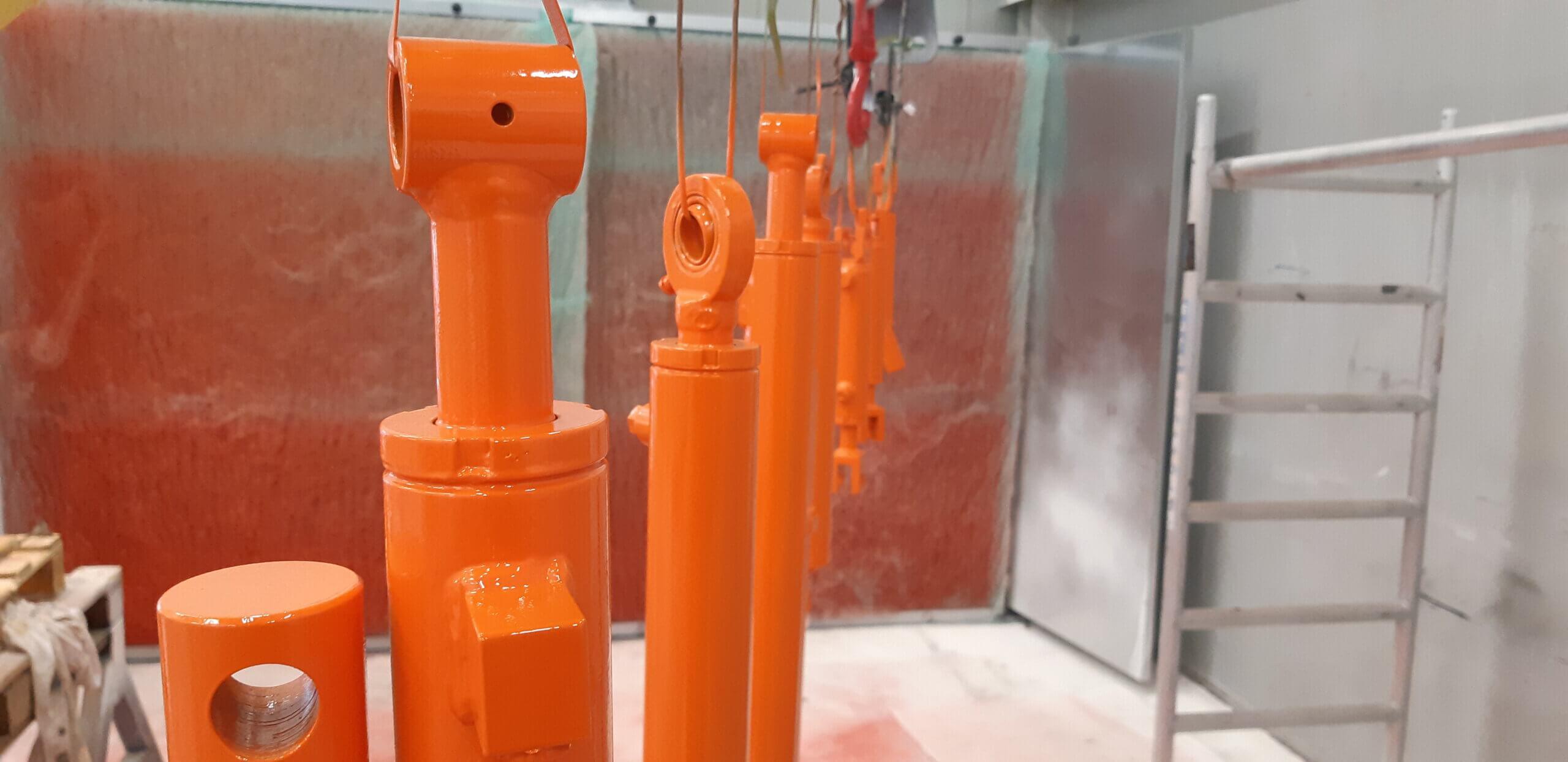 Staal coating spuiterij